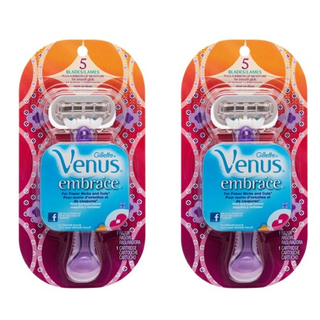 2-Pack Gillette Venus Embrace Razor with Refill Blade