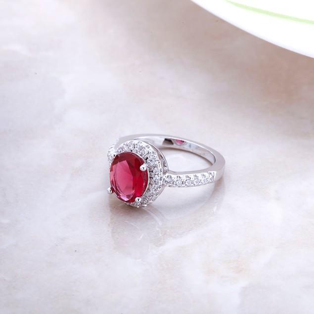 Garnet Engagement Stylish Ring