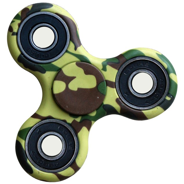 2-Pack Printed Tri-Spinner Fidgets Anti Stress Sensory Fidget Spinner