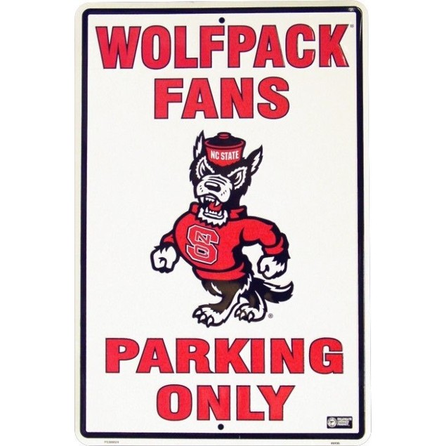 NC State Wolfpack NCAA Large Metal Parking Sign
