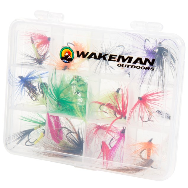 Wakeman Outdoors Assorted Dry Fly Fishing Flies