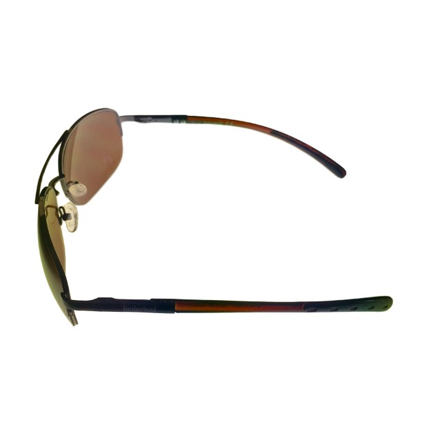 Timberland Sunglass Mens Brown Rimless Metal Aviator, Brown Len TB7113 12G