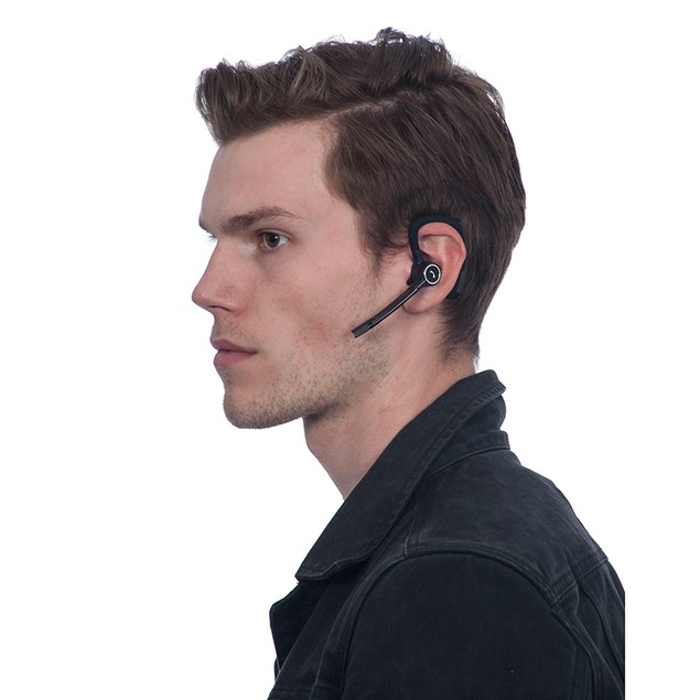1 Voice Bluetooth Ear Piece With Boom & Extended Battery