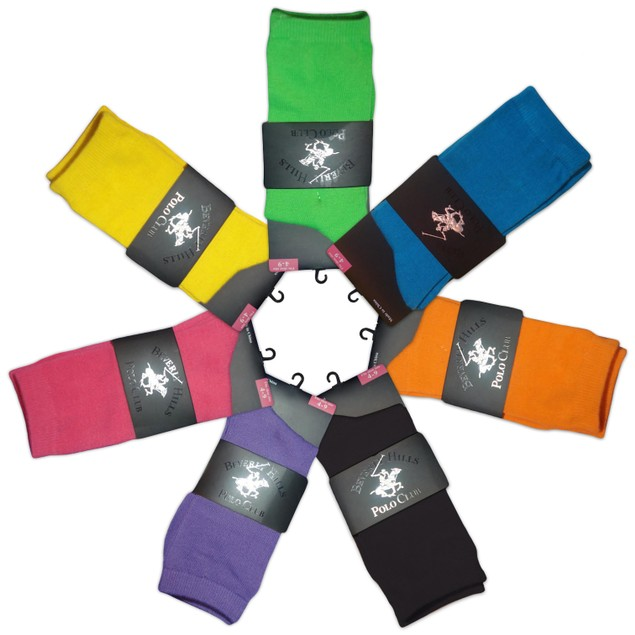 4-Pack: Beverly Hills Polo Club Women's Crew Socks - Assorted Colors