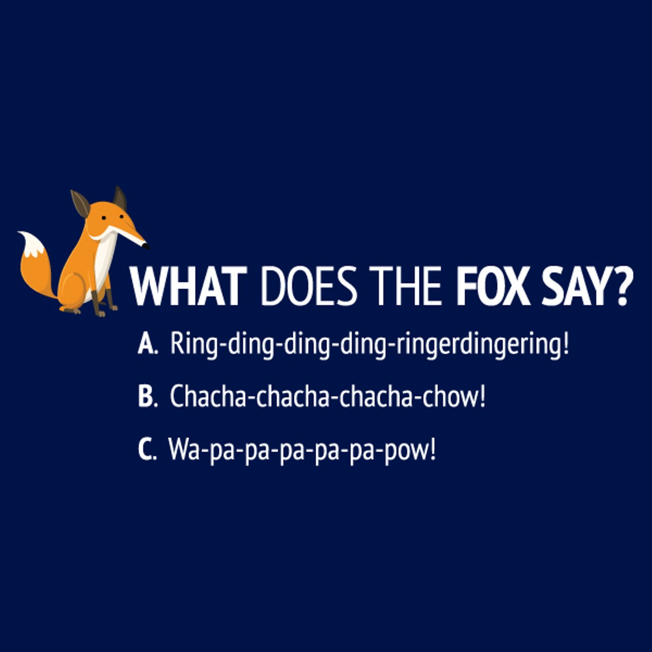 3ccb0bc55ce9 What Does The Fox Say