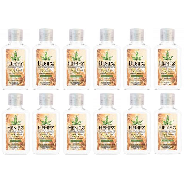 6 or 12-Pack Hempz Fresh Fusions Citrine Crystal & Herbal Body Moisturizer