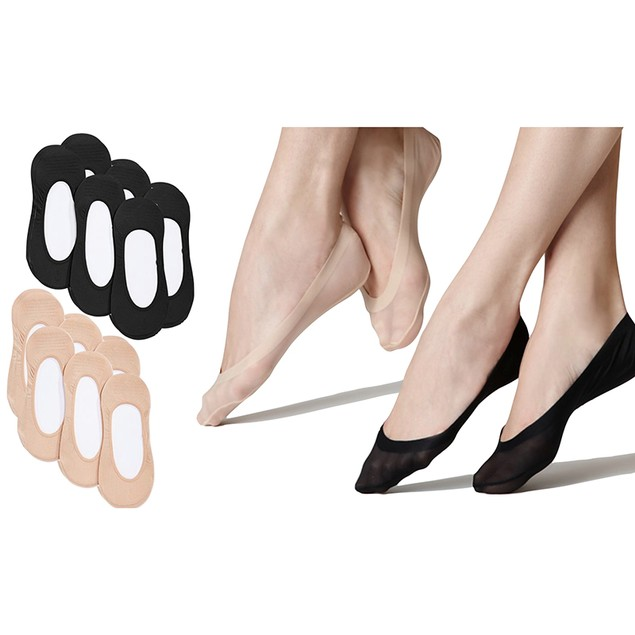 12-Pairs Women's Invisible Footie Socks