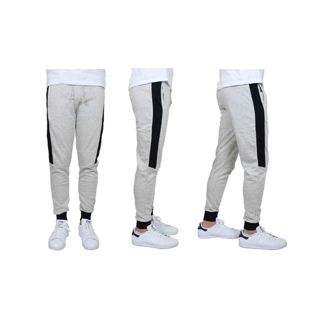 Men's Slim-Fit French Terry Jogger with Contrast Side Stripe (S-2XL)