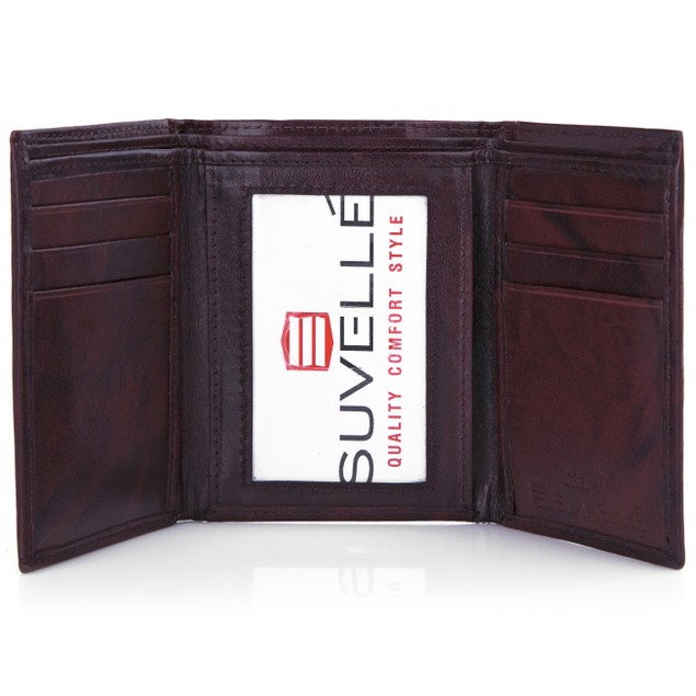 Suvelle Men's RFID Genuine Leather Trifold Wallet