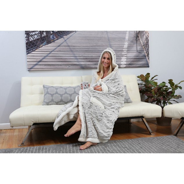 Chic Home Sherpa-Lined Hoodie Robe - Assorted Styles
