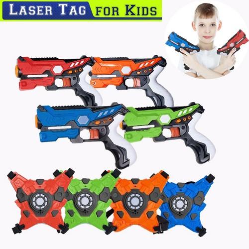 4-Player Multi Function Laser Tag Set w/ Vests for Kids