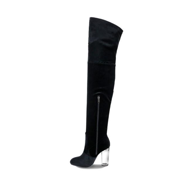 Olivia Miller 'Merrick' Lucite Heel Thigh High Boots