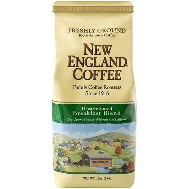 New England Breakfast Blend Decaffeinated Ground Coffee