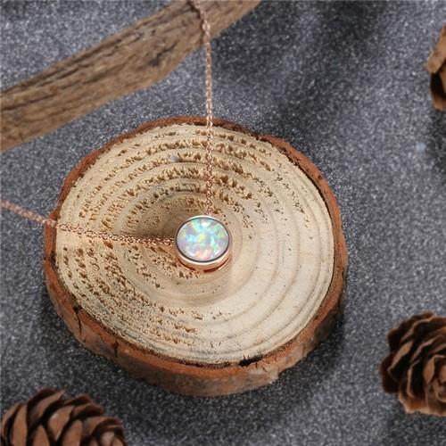 Opal Drop Necklace