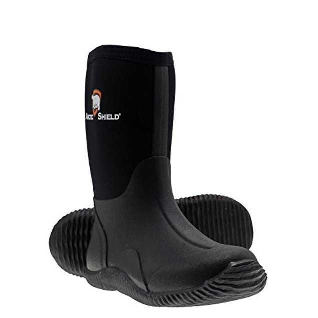 Youth Waterproof Durable Rubber Neoprene Outdoor Rain and Snow Boots