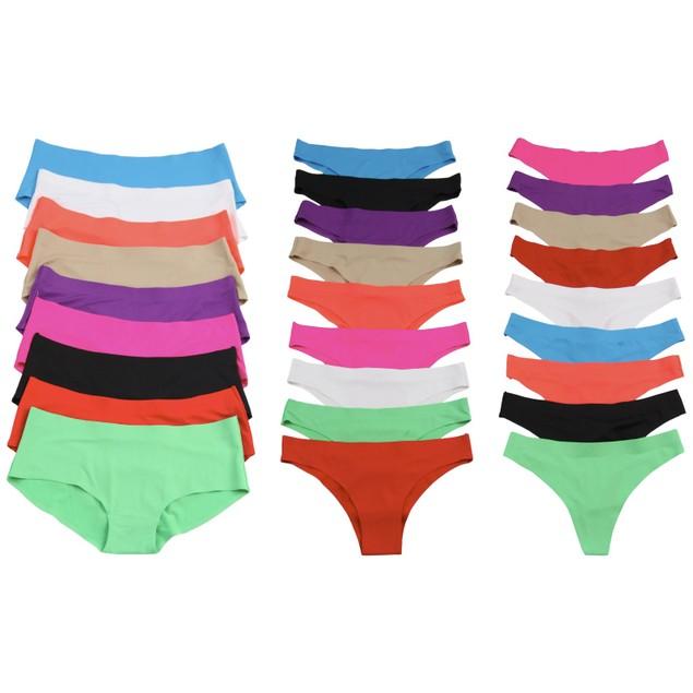 6-Pack Women's Laser-Cut Invisible Panties