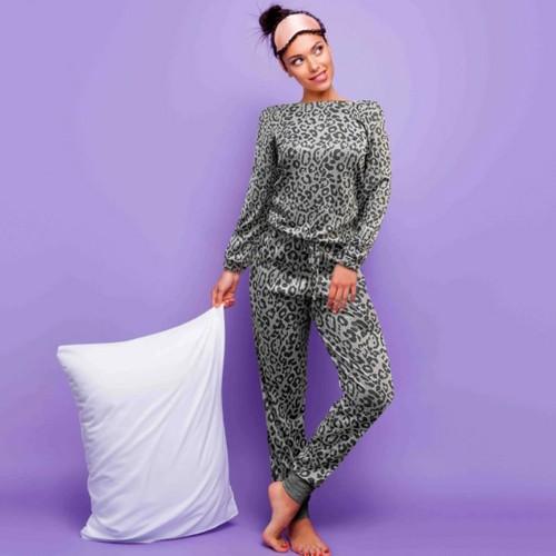 Women's Leopard Print Comfy Lounge Set