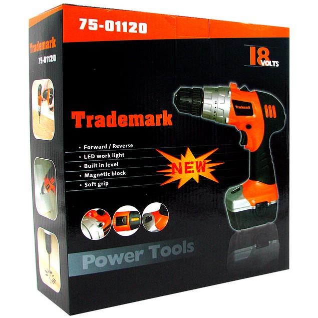 Stalwart 18V Cordless Drill w/ LED Light