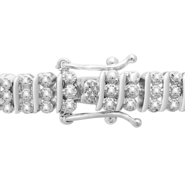 Three Row Diamond Bracelet 0.98cttw