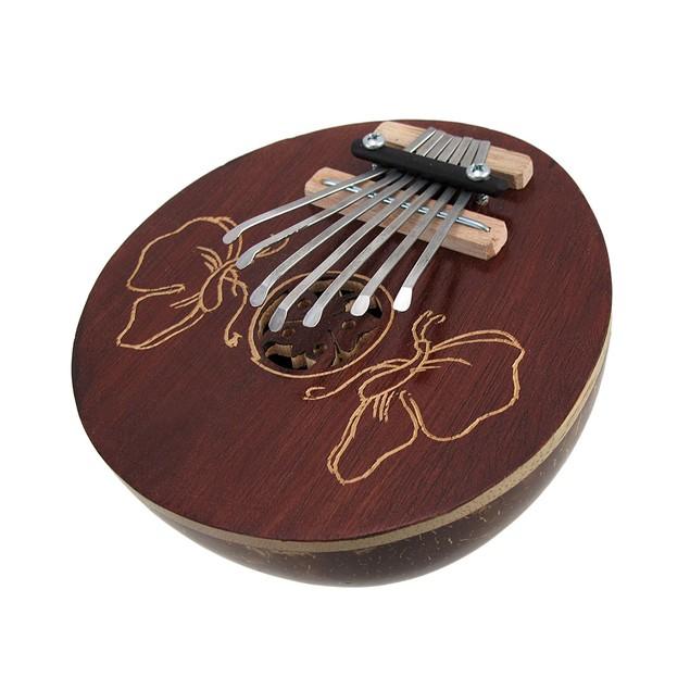 Hand Carved Coconut Kariba Mbira Thumb Piano Thumb Pianos