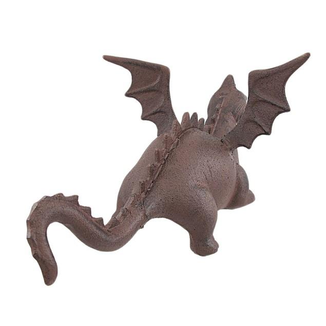 Cast Iron Dragon Statue Door Stop Antiqued Finish Door Stops