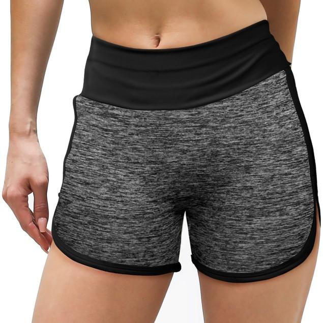 6-Pack Mystery Deal: Women's Mesh Cotton-Blend Waistband Yoga Shorts