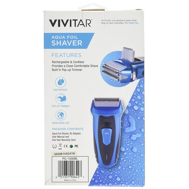 Vivitar Aqua Rechargeable Foil Shaver