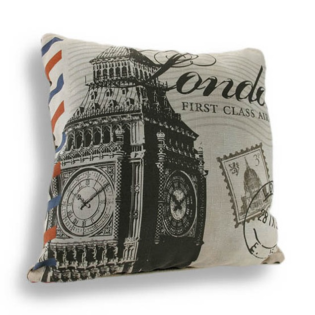 Don't Forget To Write From London 18In. Decorative Throw Pillows