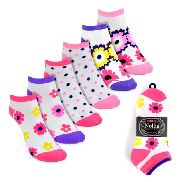 24-Pairs Women's Multicolor Low Cut Socks