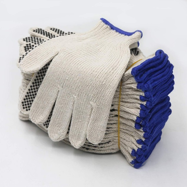 EvridWear 12 Pairs String Knit Safety Work Gloves