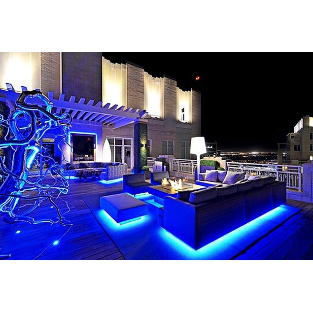 Zone Tech 4x Blue 30cm LED Stage Flexible Waterproof Lighting Light Strips