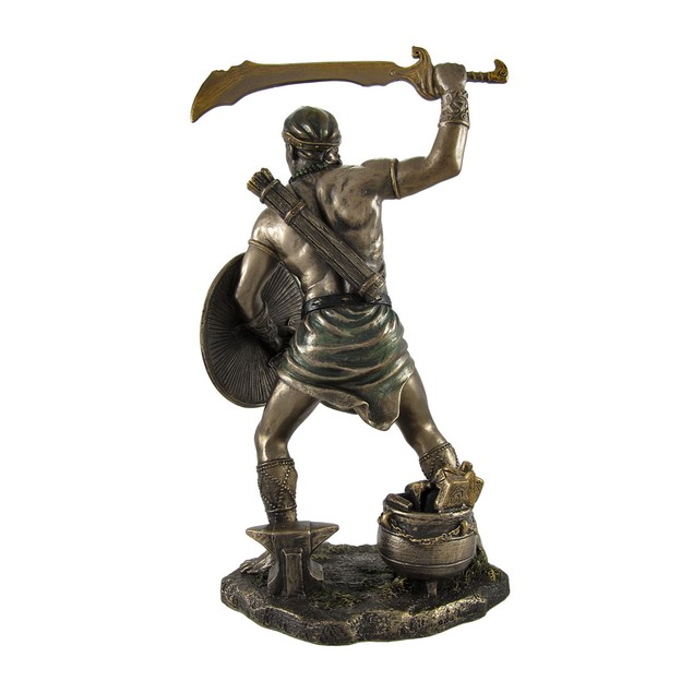 Bronzed Oggun God Of War, Iron And Hunting Statue Statues