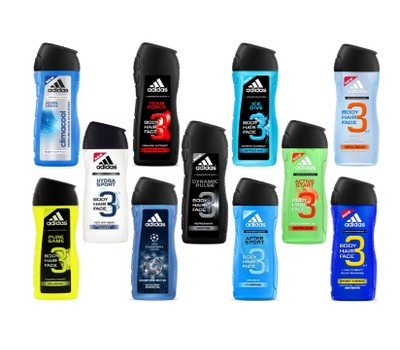 6-Pack Assorted Adidas Shower Gel For Men 13.5oz / 400ml Was: $69.99 Now: $24.99.