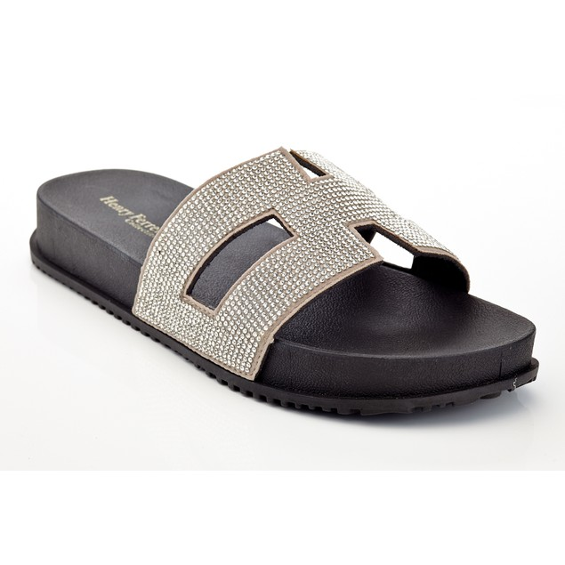 2 Pairs Deal Women Clasic Sandals Hype-118 Dimond  Crusted