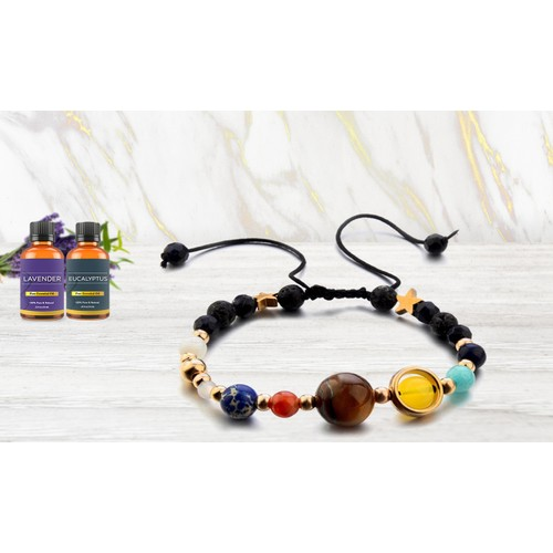 Aromatherapy Diffuser Bracelet with Optional Essential Oils