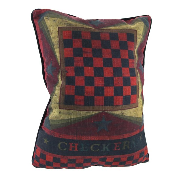 Checkers/Chinese Checkers Decorative Throw Pillow Throw Pillows