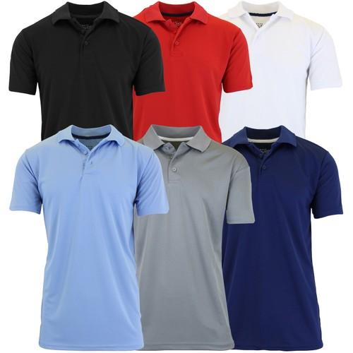 5-Pack Men's Assorted Moisture Wicking Polo Shirt