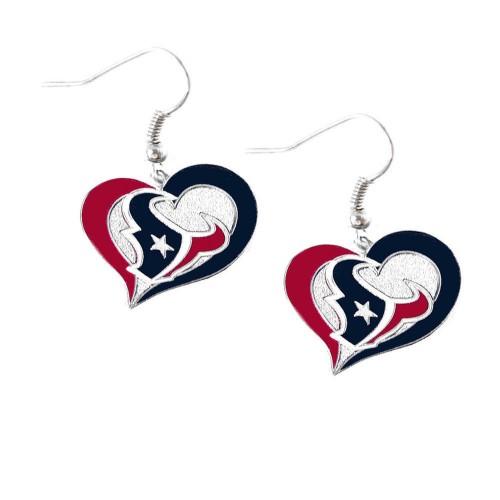 NFL Swirl Heart Earring Dangle Logo Charm Gift