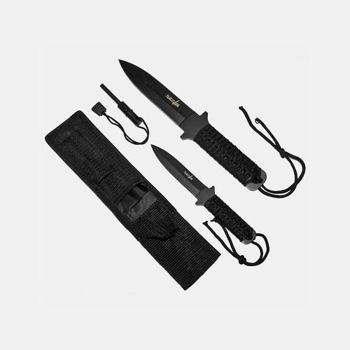 Whetston Survivor Fire Starter Survival Knife Set