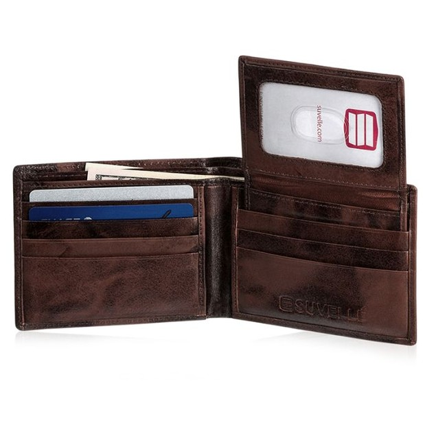 Men's Suvelle Super Slim Leather Wallet