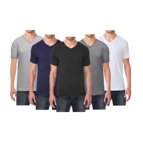 Men's Premium Cotton Blend Short Sleeve V-Neck Tee