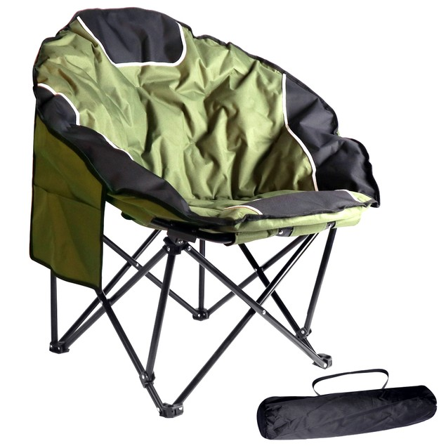 BIGTREE Portable Outdoor Moon Folding Chair Cup Holder Carry Bag Comfortable