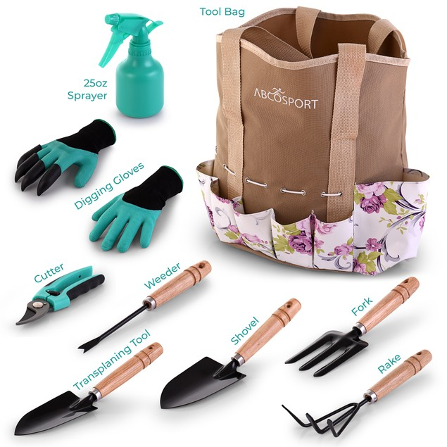 Garden Tools Set - 9 Piece Gardening Kit