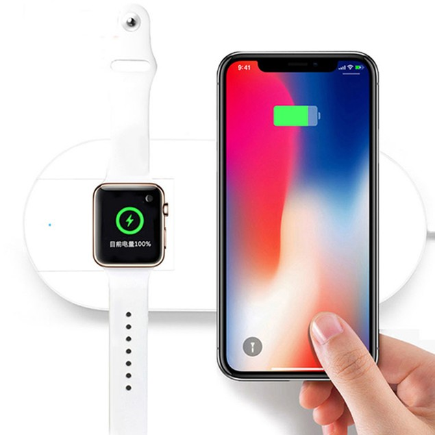 iPM 2 in 1 Wireless Charging Pad for Qi Wireless Smartphones & Apple Watch