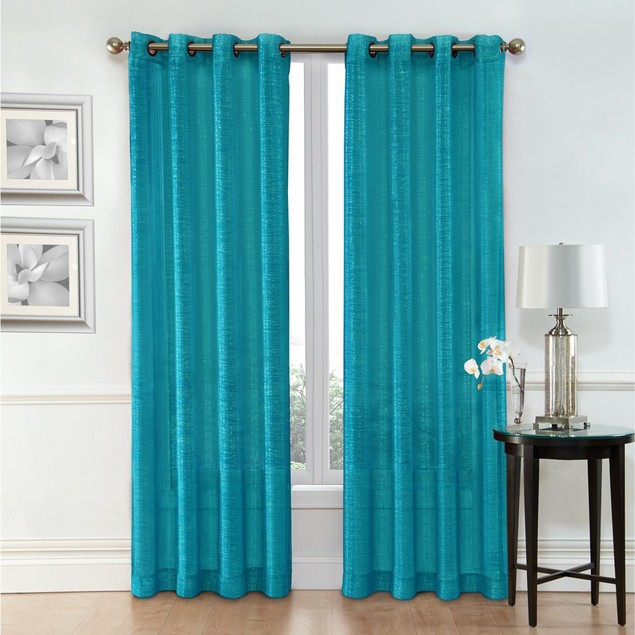 Ruthy's Textile 2 Piece Sheer Window Curtain Grommet Panels