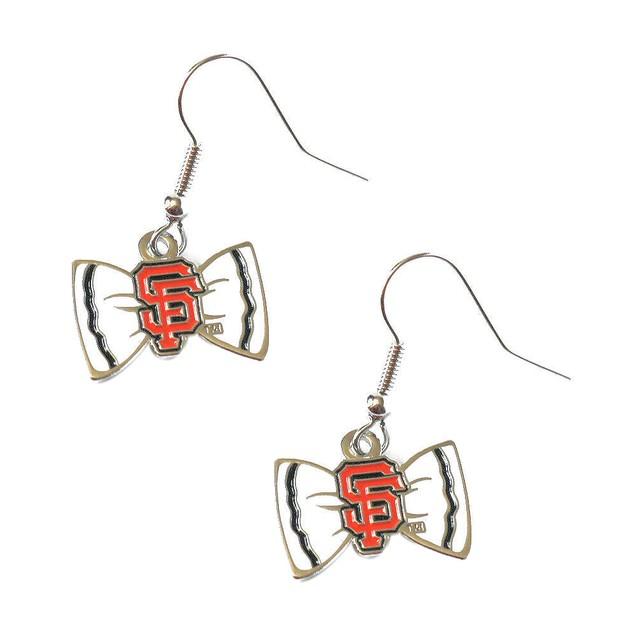 MLB Sports Team Logo Bow Tie Earrings
