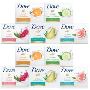 15-Pack Dove Bar Soap Variety Bundle
