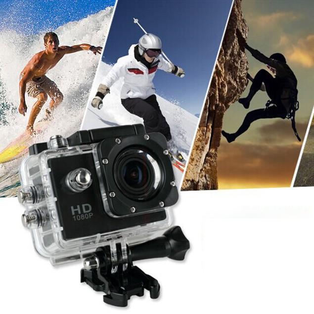 1080P HD Sports Action Camera + FREE Accessory Bundle