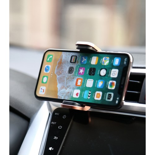 Universal Car Vent Mount For Smartphones with Vegan Leather
