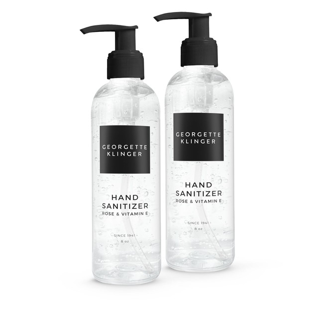 Hand Sanitizer with Rose & Vitamin E 8oz - 1/2/4 Pack by Georgette Klinger